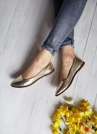 Балетки туфли золотые р33-42 золотистые лодочки балетки туфлі  золоті золотисті човники