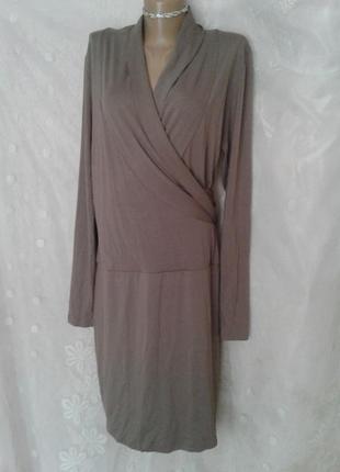 Трикотажное платье,которое стройнит , xl-xxxl