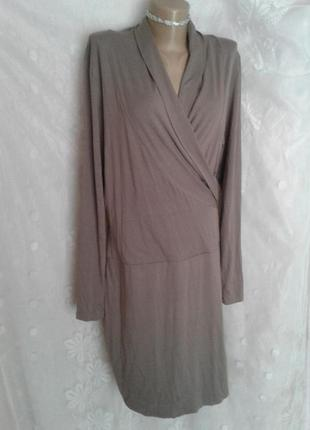 Трикотажное платье,которое стройнит , xl-xxxl3 фото