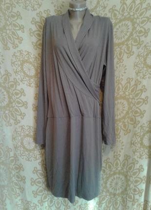 Трикотажное платье,которое стройнит , xl-xxxl4 фото