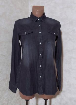 Новая серая джинсовая рубашка, true spirit, m