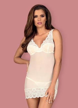 853-che chemise obsessive белая сорочка с чашечками