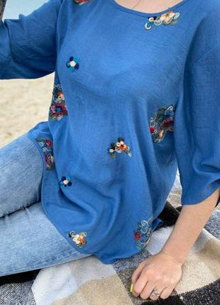 Красивая женская легкая блуза, туника из легкой ткани