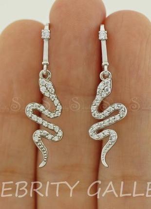 10% скидка подписчику! стильные серьги серебряные i 262724 w серебро 925 сережки