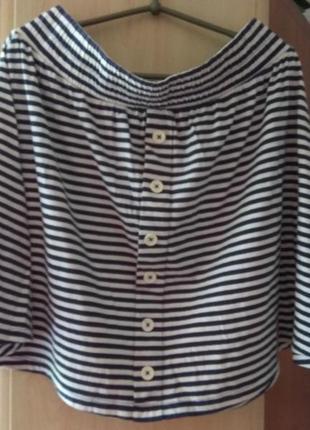Летняя юбка в полоску 💯 котон tu2 фото