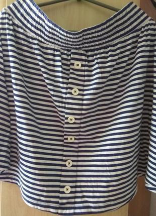 Летняя юбка в полоску 💯 котон tu3 фото