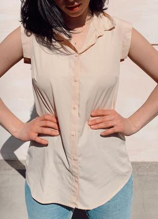 Летняя рубашка блуза (сорочка) персикового цвета от calliope