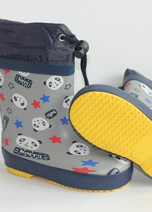 Резиновые сапоги тм bl&kl mb01075 резинові гумові чоботи я'яркие модные