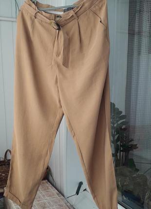Стильные базовые  легкие брюки