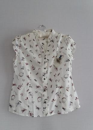 Рубашка с принтом oodji