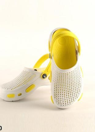 Сабо, кроксы, женские, белые, р. 36-41; медицинская обувь, 115540