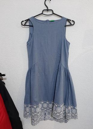 Котоновый сарафан, платье