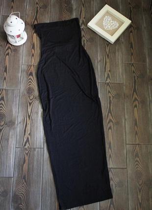 Длинное платье макси бюстье с открытой спиной