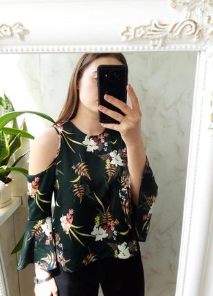 Блузка с открытыми плечами miss selfridge