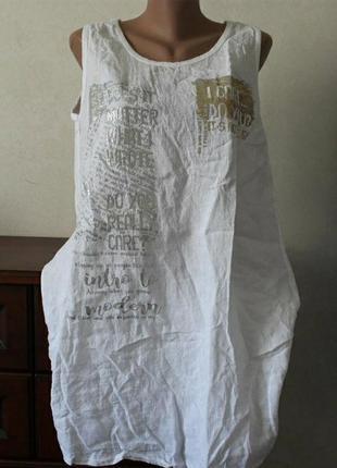 Платье лён,размер 52