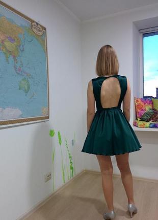 Вечернее коктейльное платье для выпускного короткое мини с открытой спиной