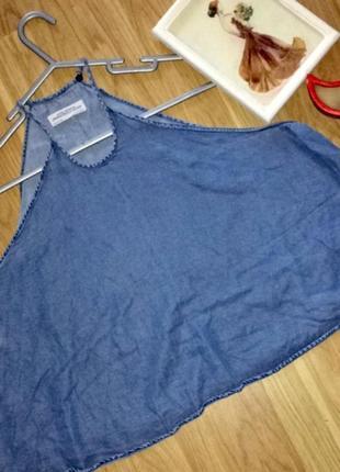 Легкая тонкая джинсовая майка большого размера 20
