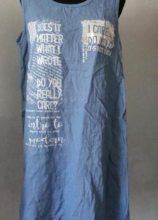 Платье, лён, размер 52