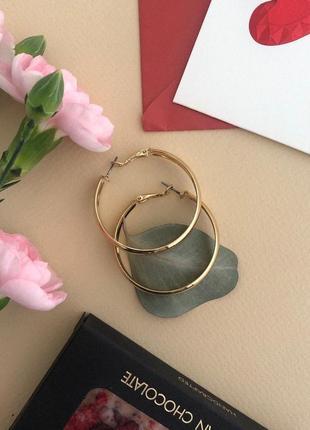 Серьги кольца, сток европа6 фото