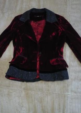 Пиджак бархатный в идеальном состоянии размер xs