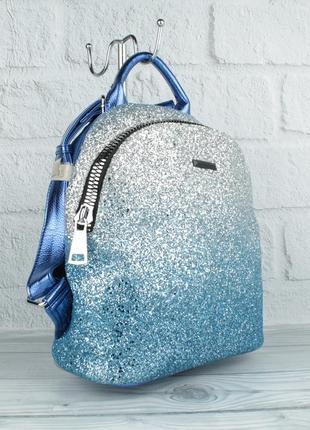 Городской рюкзак velina fabbiano 531015-20 голубой с блестками, градиент