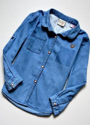 Zara. крутая джинсовая рубашка на маленькую модницу. 2-3 года. рост 98 см