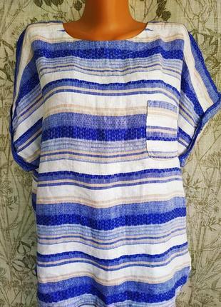 Супер  льняная блуза