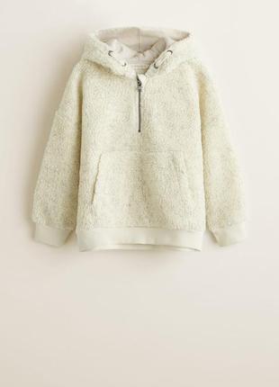 Тёплый свитер шерпа на мальчика 4-5 лет