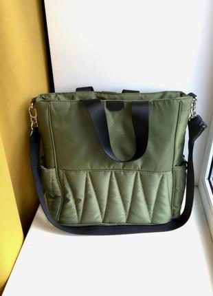 Вместительная сумка zara через плечо сумка кроссбоди