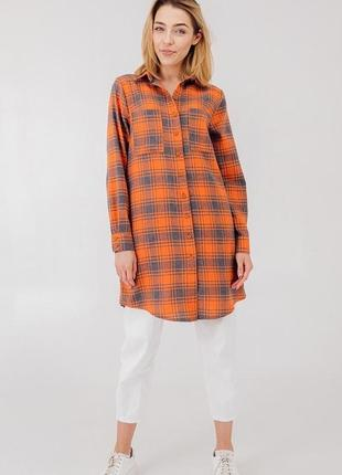 Сукня-сорочка в клітинку