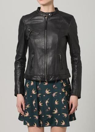 Mbym дорогая черная кожаная куртка (не косуха)