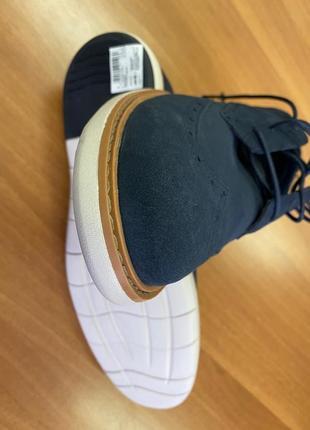 Туфли мокасины мужские clarks 45 размер замшевые новые.