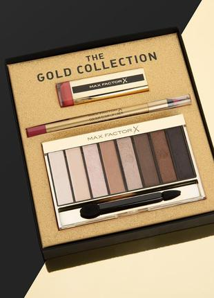 Тени, помада, карандаш/лайнер the gold collection max factor