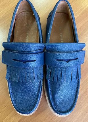 Туфли мокасины мужские jump 44-45 размер. кожаные, летние, новые.