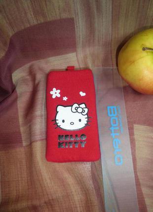 Чехол носок для телефона iphone4 hello kitty оригинал sanrio красный