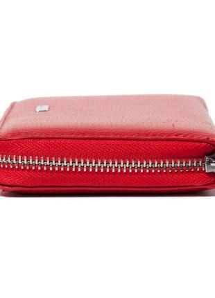 Женский кошелек karya 1072-46 из натуральной кожи красный5 фото