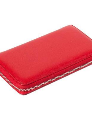 Женский кошелек karya 1072-46 из натуральной кожи красный3 фото