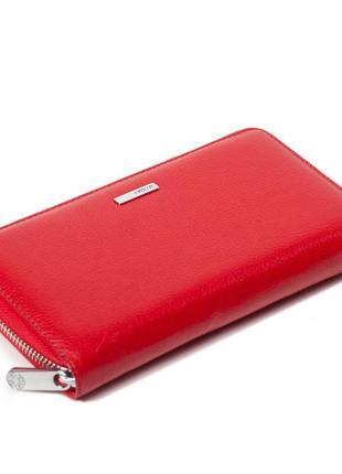 Женский кошелек karya 1072-46 из натуральной кожи красный