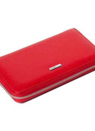 Женский кошелек karya 1072-46 из натуральной кожи красный2 фото