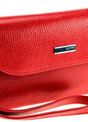 Женский кошелек клатч karya 1121-46 кожаный красный
