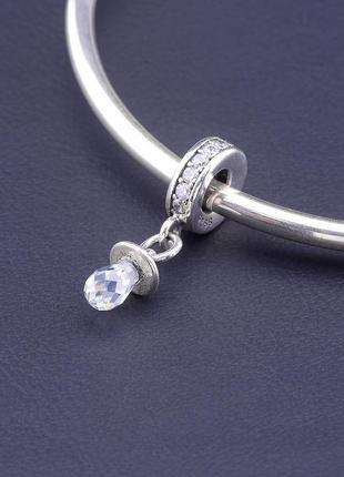 Шарм 'pandora style' фианит серебро(925)2,13 г. 0772360