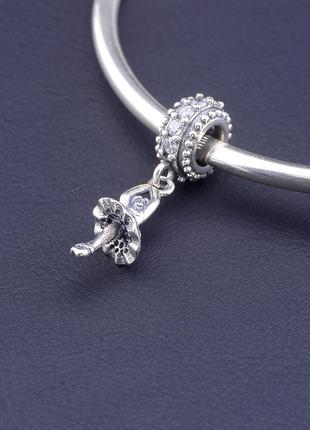 Шарм 'pandora style' фианит серебро(925)2,11 г. 0772450