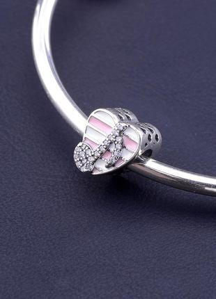 Шарм 'pandora style' эмаль серебро(925)  0828860