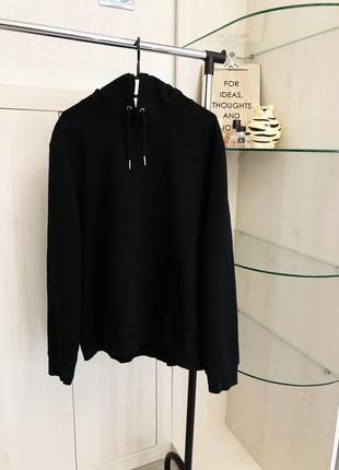 Чёрное оверсайз худи с капюшоном от new look
