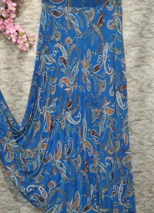 Красивая летняя плиссированная юбка в пол.