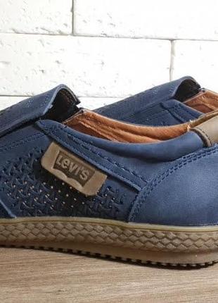 Летние мужские кожаные туфли наложенный платеж обмен возврат5 фото