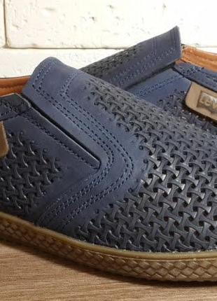 Летние мужские кожаные туфли наложенный платеж обмен возврат4 фото