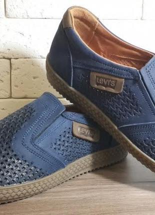 Летние мужские кожаные туфли наложенный платеж обмен возврат1 фото