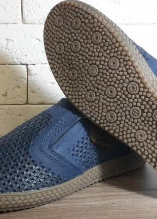 Летние мужские кожаные туфли наложенный платеж обмен возврат9 фото