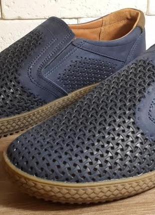 Летние мужские кожаные туфли наложенный платеж обмен возврат3 фото